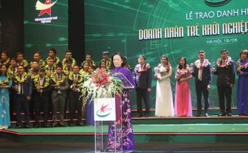 Đ/c Trương Thị Mai, Uỷ viên Bộ Chính Trị, Bí thư TW Đảng, Trưởng ban Dân vận Trung ương tin tưởng đội ngũ doanh nhân trẻ sẽ tiếp tục phát huy được vai trò thúc đẩy sự phát triển kinh tế, đất nước