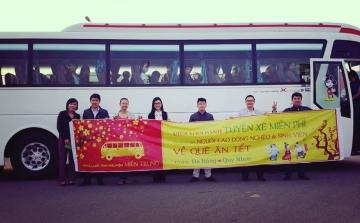 [ Xuân Ất Mùi ] Chương trình vé xe miễn phí cho người lao động nghèo và sinh viên về quê ăn tết